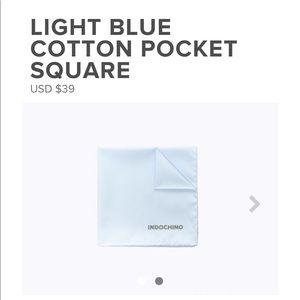 Brand new in wrapper blue blue pocket squares